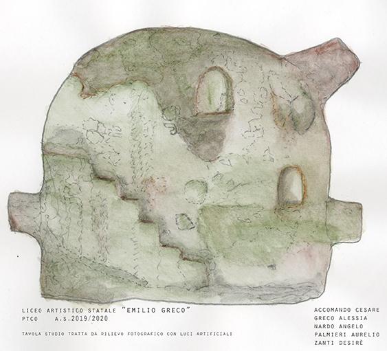 Sezione con scale del Colombario/Greco-Nardo